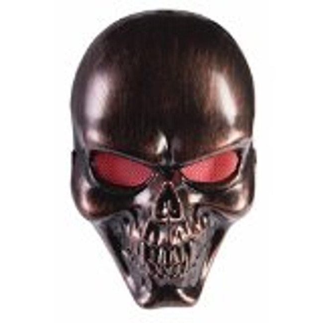 /bronze-skull-mask-with-red-mesh-eyes-frontal/