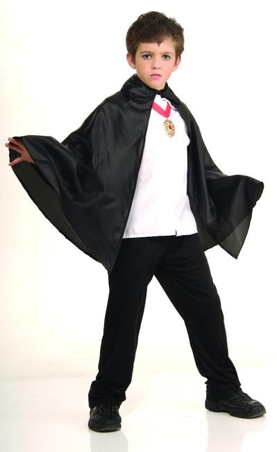"""Cape 45/"""" Panne Velvet Black No Collar Material Tie Closure"""
