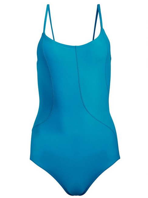 80% Nylon/20% Spandex Camisole leotard Fluid stitch lines contour the body with no true side seam Moderate leg line Full front and back lining