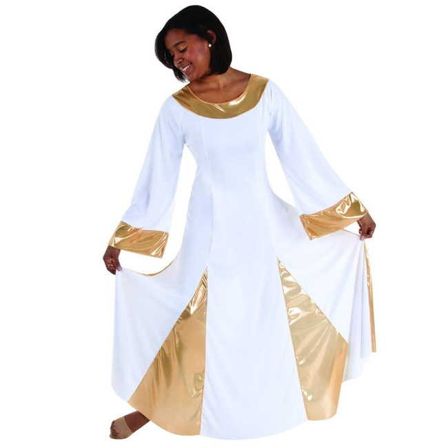 Ladies long sleeve praise dress by body wrappers comes in different colors
