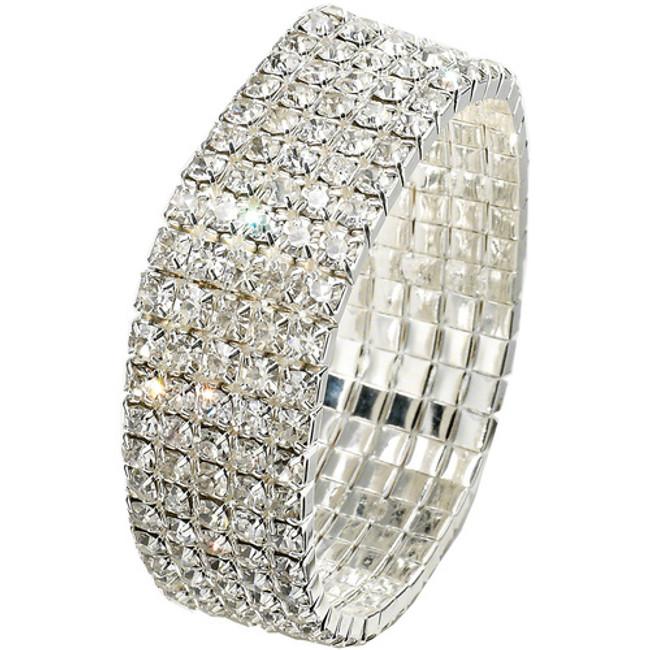 Bracelet 5 row stretch crystal