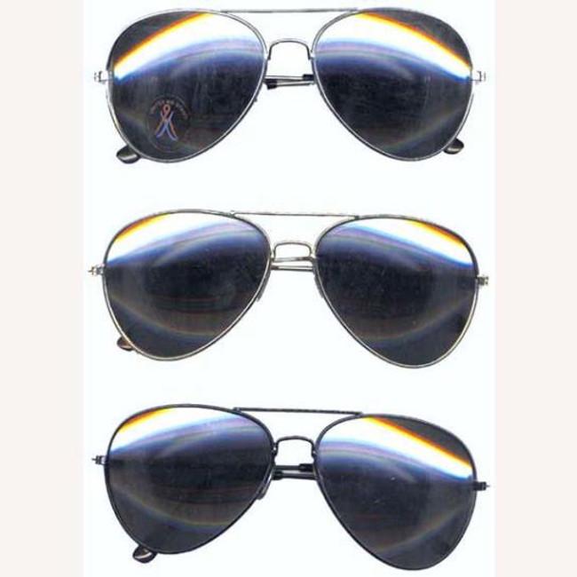 Mirrored aviator glasses