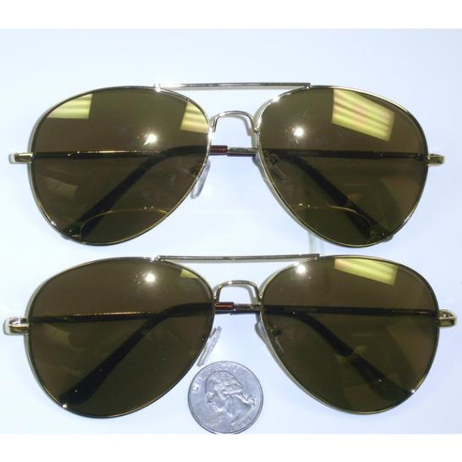 Aviator sunglasses gold frames flash mirror lens