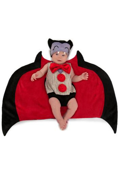 SWADDLE WINGS Drooly Dracula- Swaddle Blanket Body & Hat
