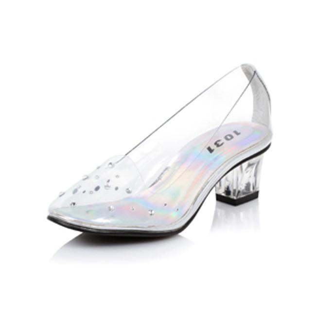 Anastasia Girls Clear Princess glass slipper costume shoe