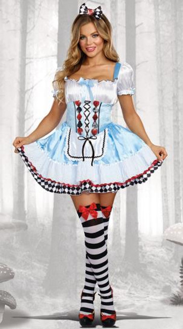 Beyond wonderland adult plus size Alice costume