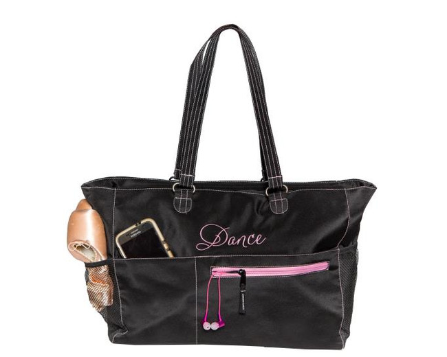 Emmie tote black and pink perfect for your dancer
