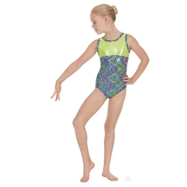 Eurotard Girls Dizzy Dots Gymnastics Leotard comes in Fuchsia and in Turquoise