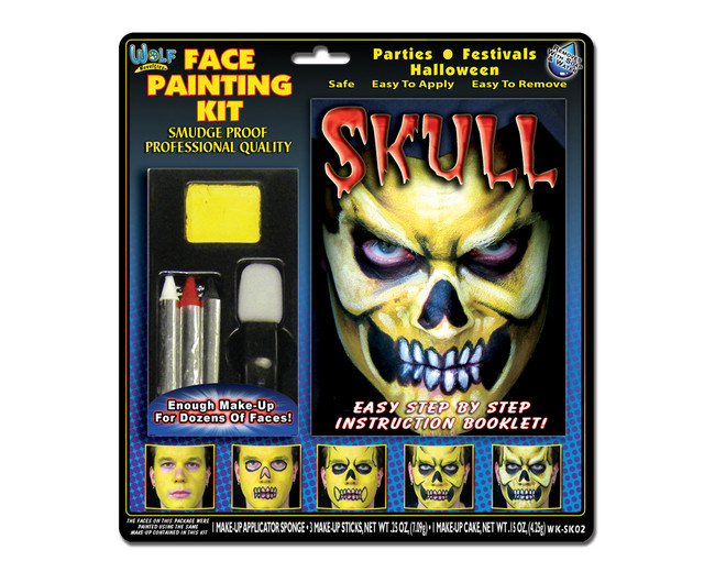 Face painting kit skull
