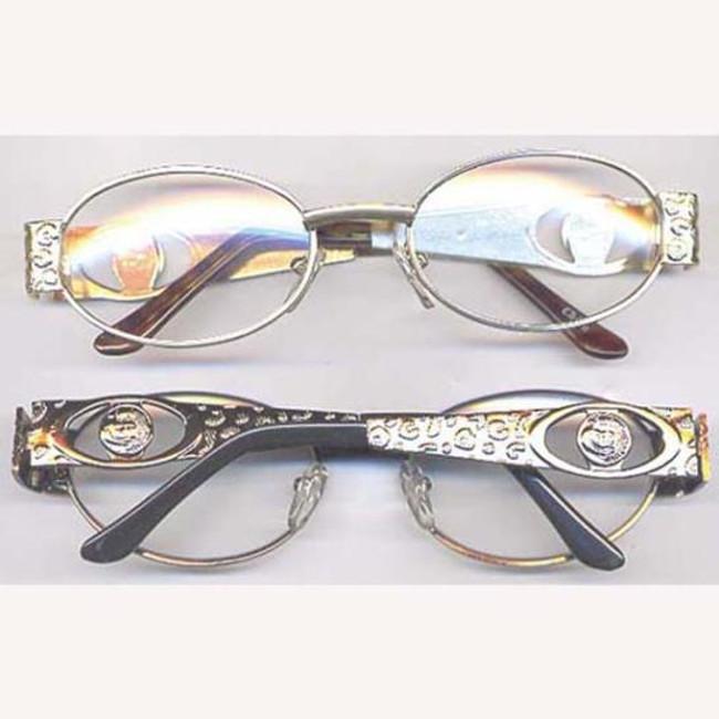Pimp glasses clear lens gold frame