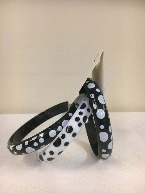 Black and White Polka dot bracelets 3 pack