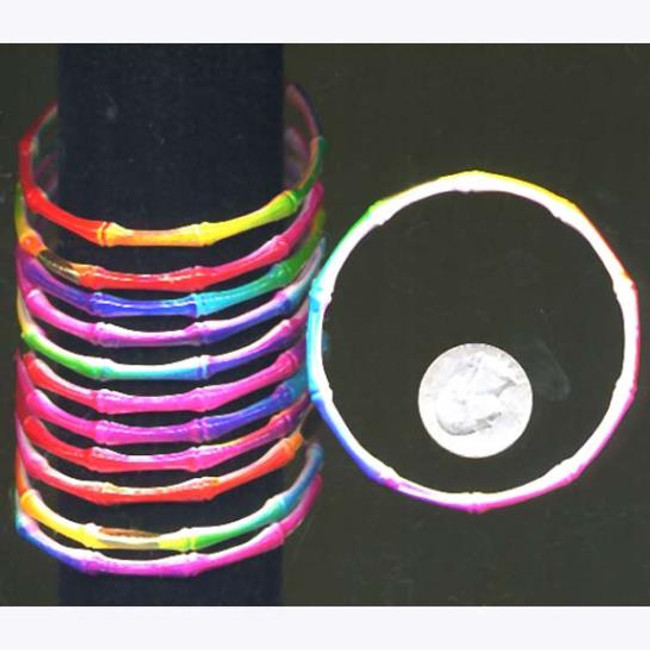 12 piece set of thin tye dye bracelets