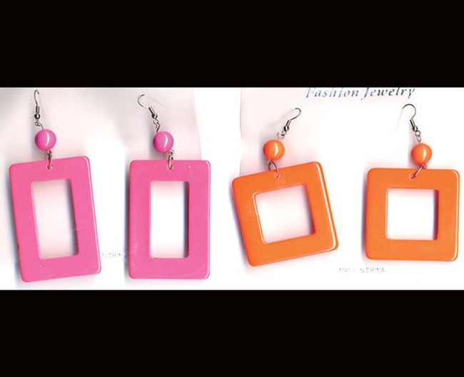 Rectangle earrings assorted colors