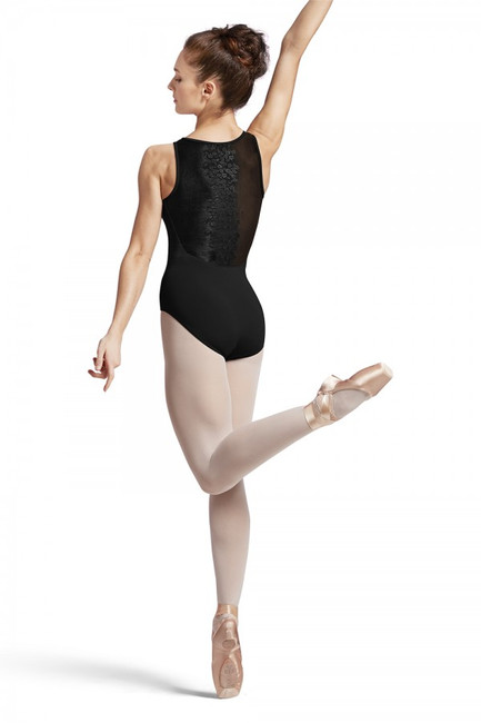 Floral back tank leotard by Bloch