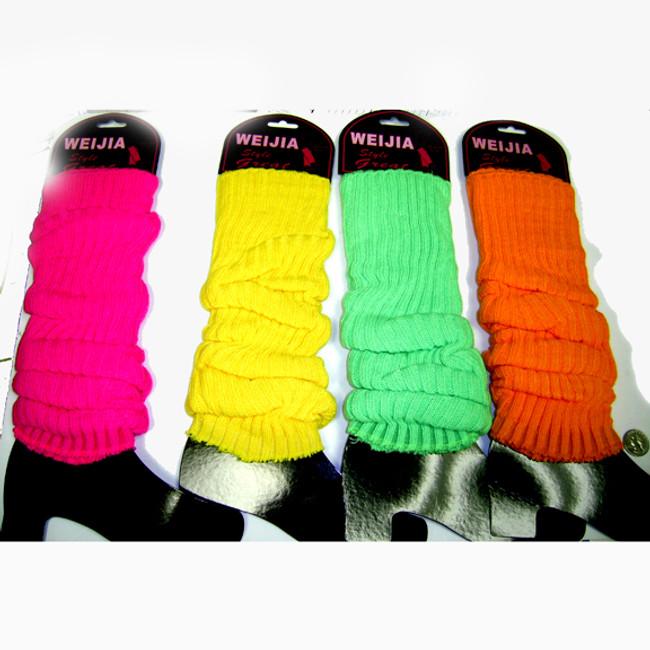 80's retro leg warmer assorted neon colors