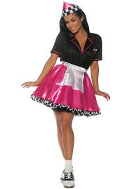 Car hop womens 50's costume