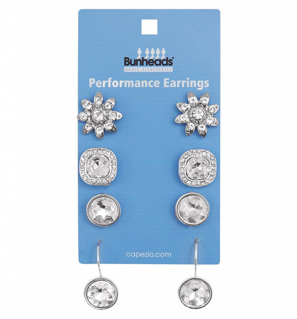 Performance earrings 4 pc