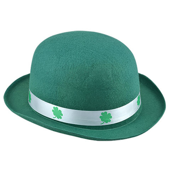 St. Patrick's Day Bowler with white band