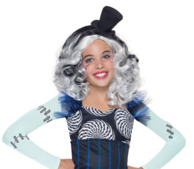 Frankie Stein kids wig Licensed Monster High