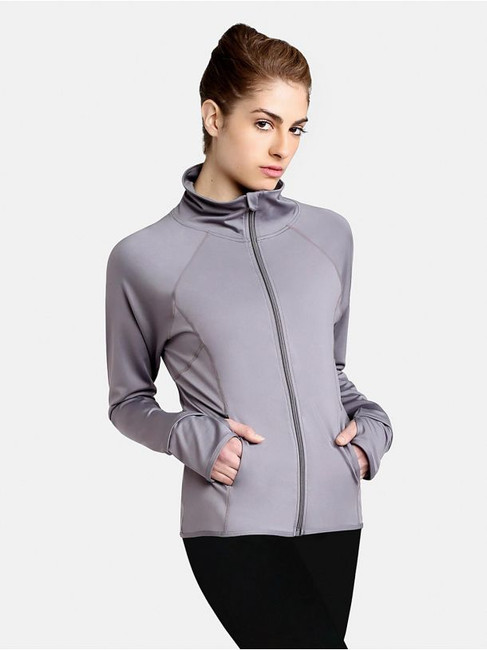 Run the track in our zip-front Team Spirit Jacket. Features thumbholes, pockets and a high funnel neck for added warmth and protection. Discreetly placed Capezio logo on the back adds an exclusive touch. Bonus factor: this jacket can be embroidered to pay tribute to your favorite team. Suits everyone with an active lifestyle.  Product Features: Lightweight zip-up jacket 86% Polyester/14% Spandex High neckline Center back logo Thumbholes  Pockets Unisex, loose fit Recommended care: Machine wash cold, delicate cycle and hang dry