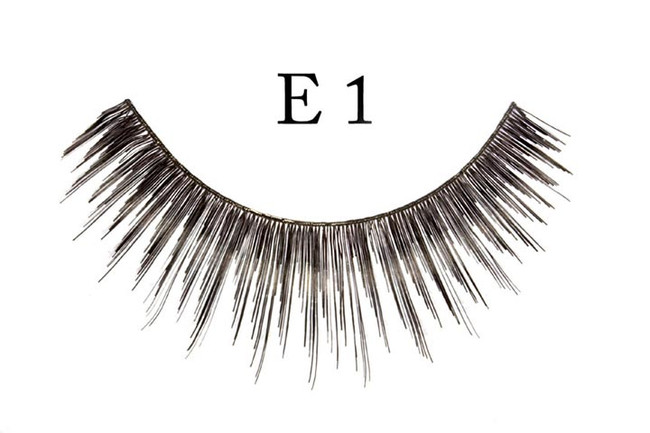 Black thin medium long Eyelashes