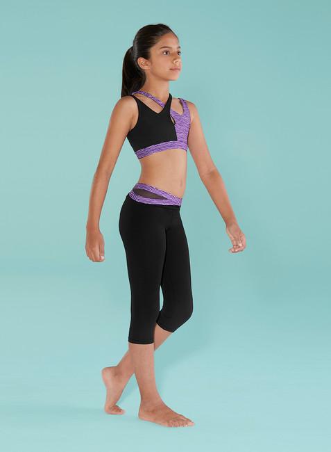 Blochs Op-Art Printed twin strap crop top girls