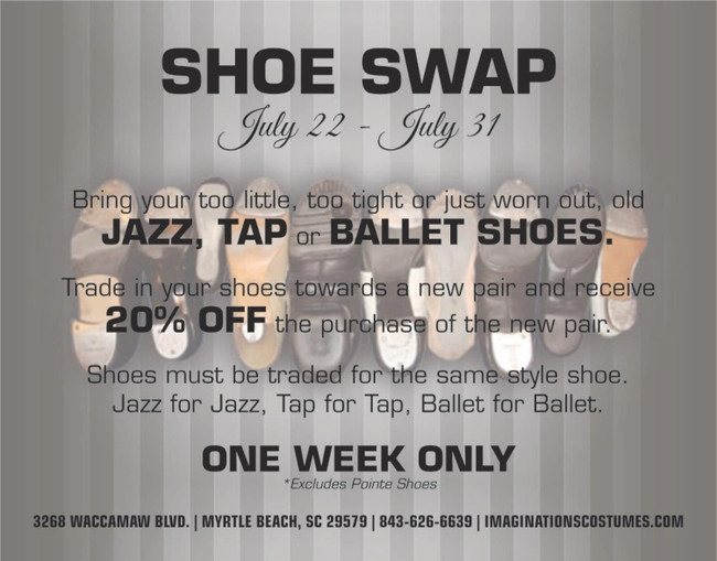 20% off During Our Shoe Swap