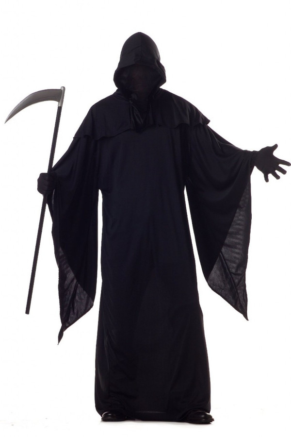 Horror Robe with Black Out Face Deluxe Adult Costume