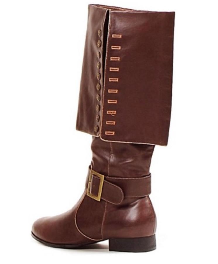 """Men's Brown Captain 1"""" Heel Knee High Pirate Boot"""
