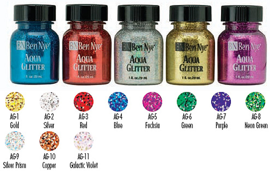 Aqua Glitter 1 fl oz / 29ml Assorted Colors