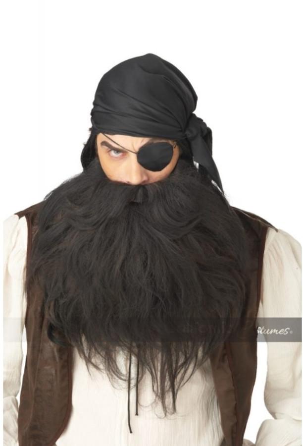 Pirate Beard & Mustache - Black