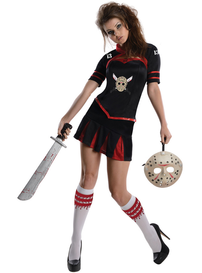 Jason Vorhees Cheerleader Style Ladies Outfit Licensed Friday the 13th Size Small