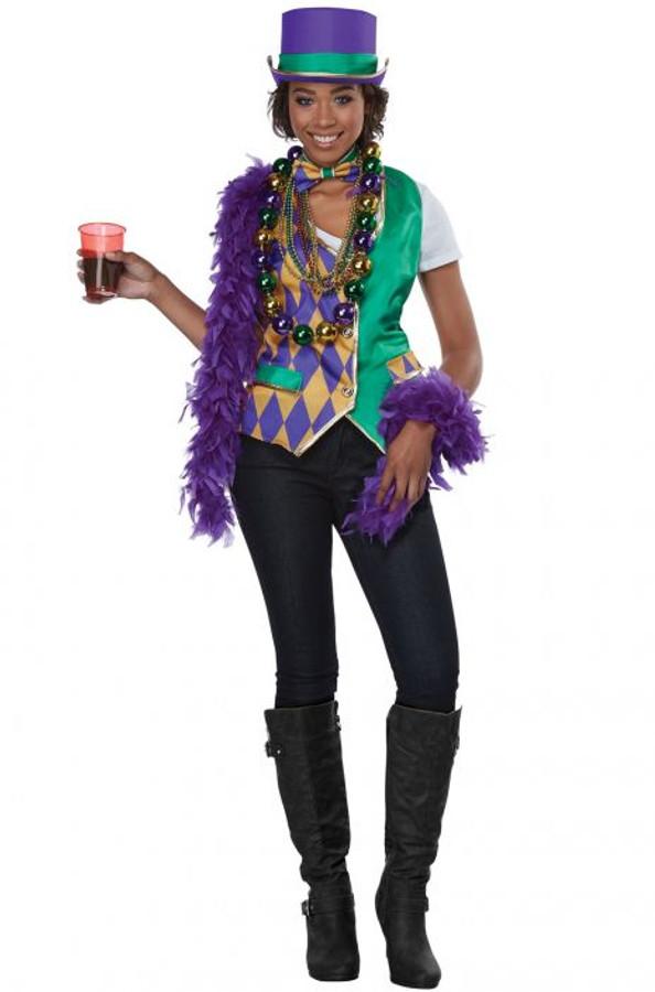 Mardi Gras Adult Vest Kit