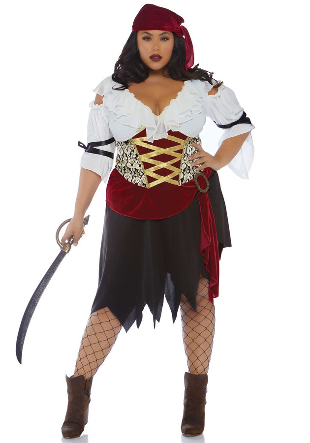 High Seas Wench 2 PC Plus Size Womens Pirate Costume