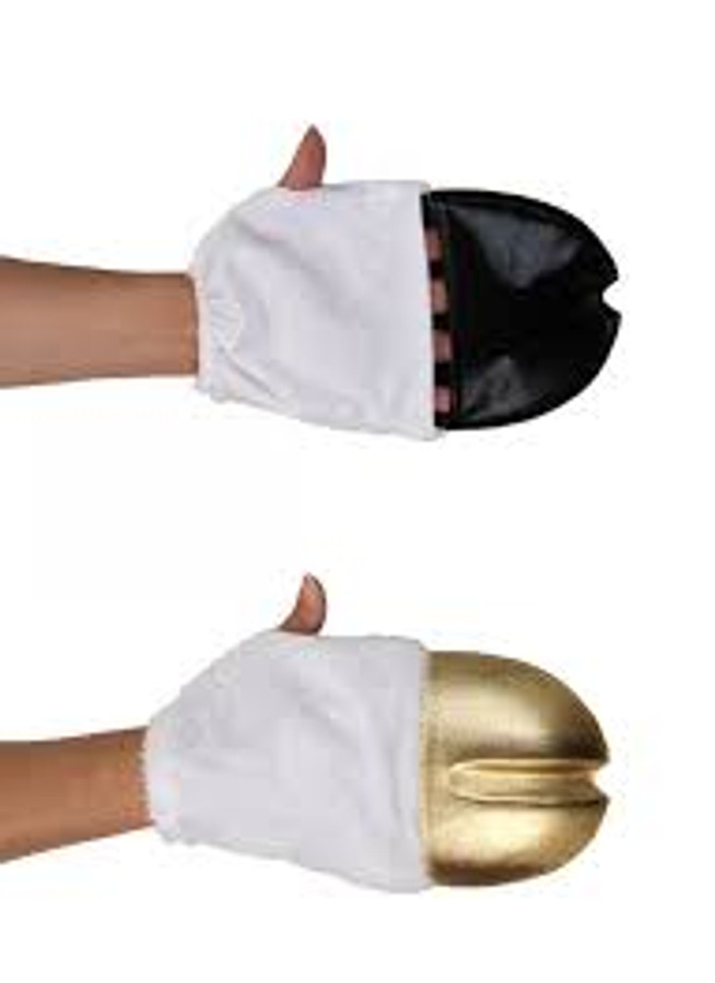 Unicorn Front Hooves Gold Hand Mits