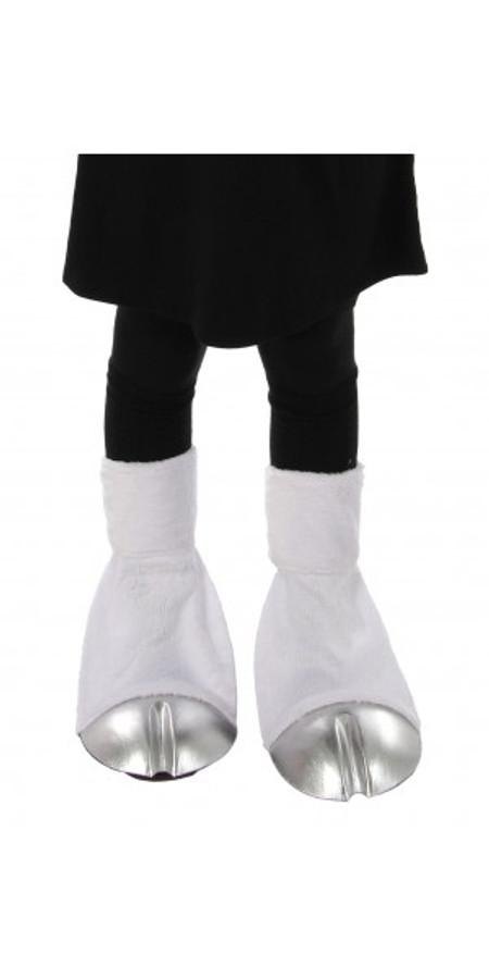 Unicorn Back Hooves Silver Shoe Covers