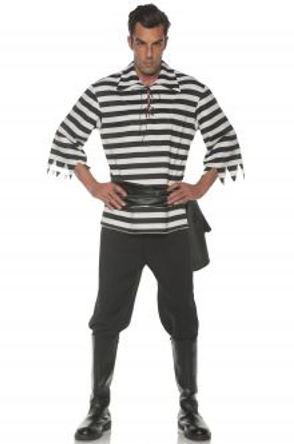 Pirate Costume Set Black One Size