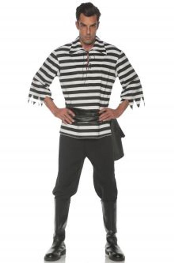 Pirate Costume Set Black Plus Size