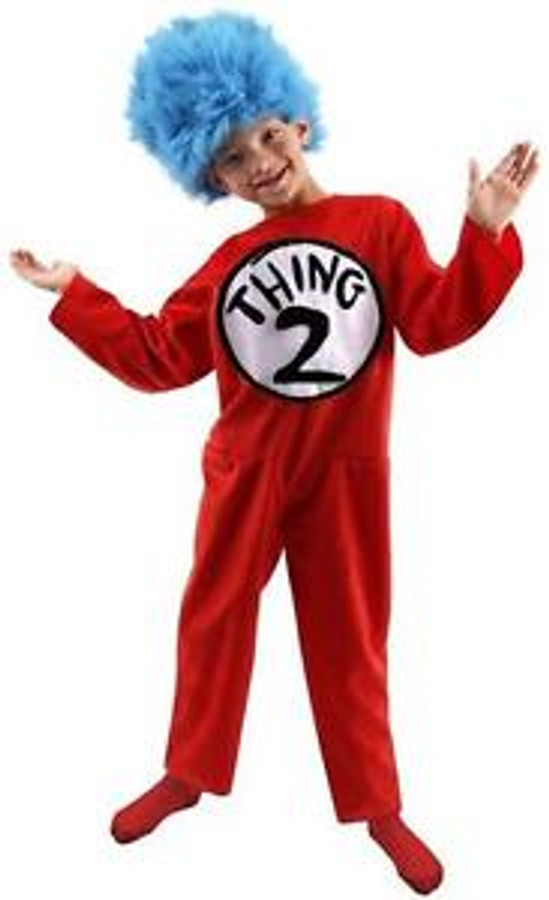 Thing 1&2 deluxe kids costume