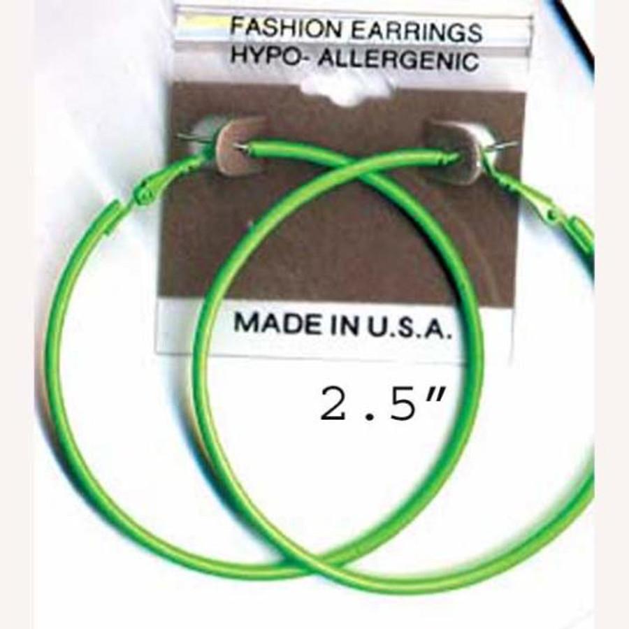 hoop earrings assorted neon colors