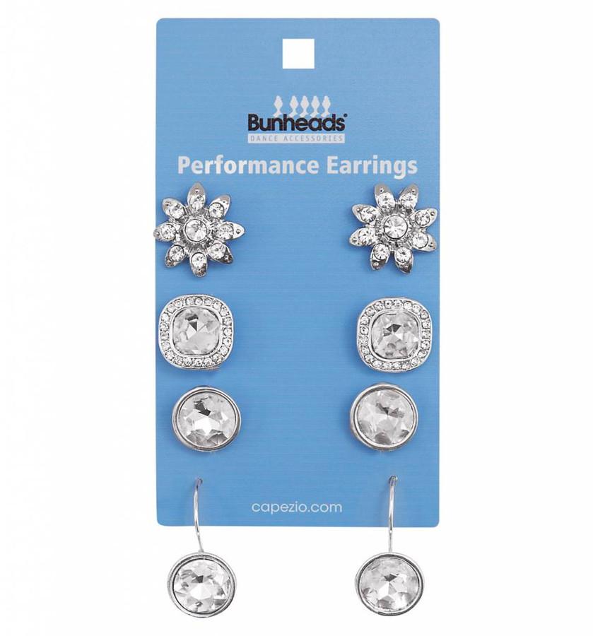 Performance earrings 4 pc