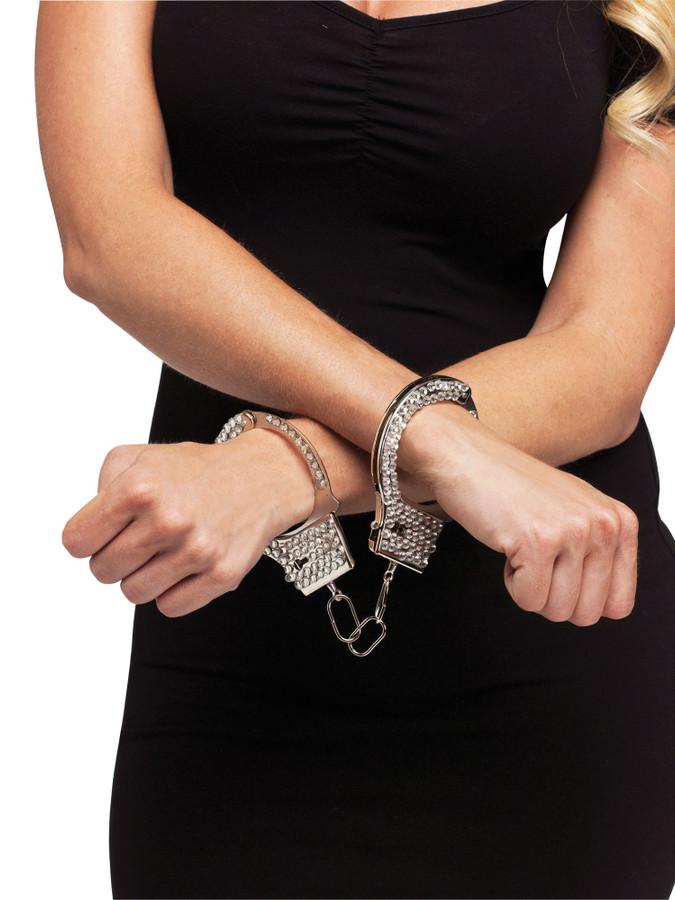 Rhinestone Handcuffs 2 Keys