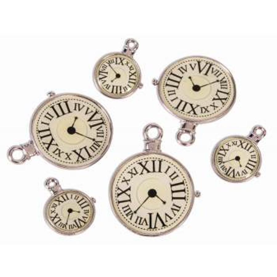 Steampunk Clock Charms