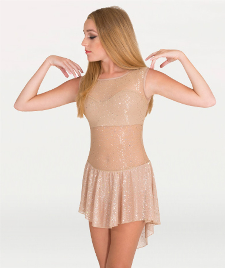 Body Wrappers Twinkle Open Back Attached Sweetheart Neck Adult Dress