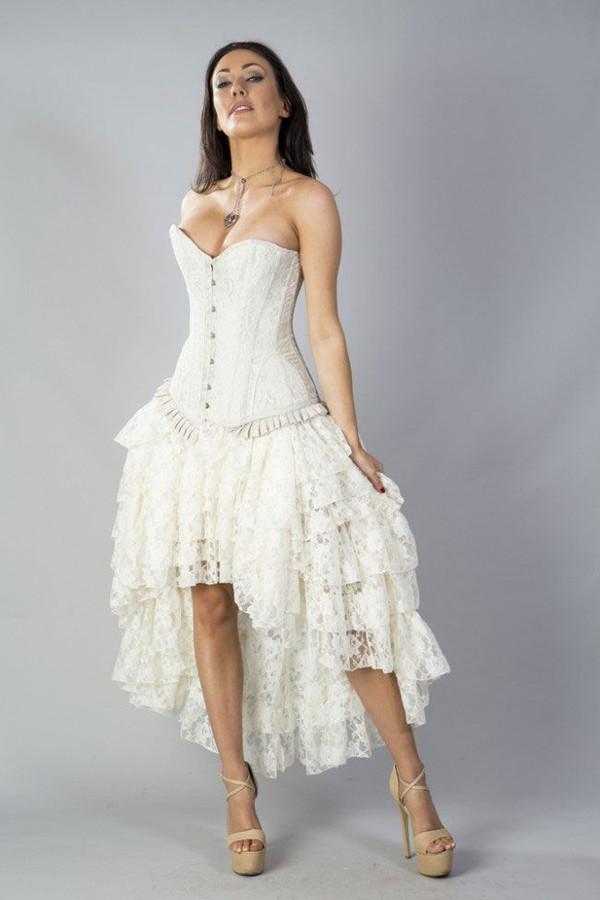 Amelia Long Burlesque Lace Skirt