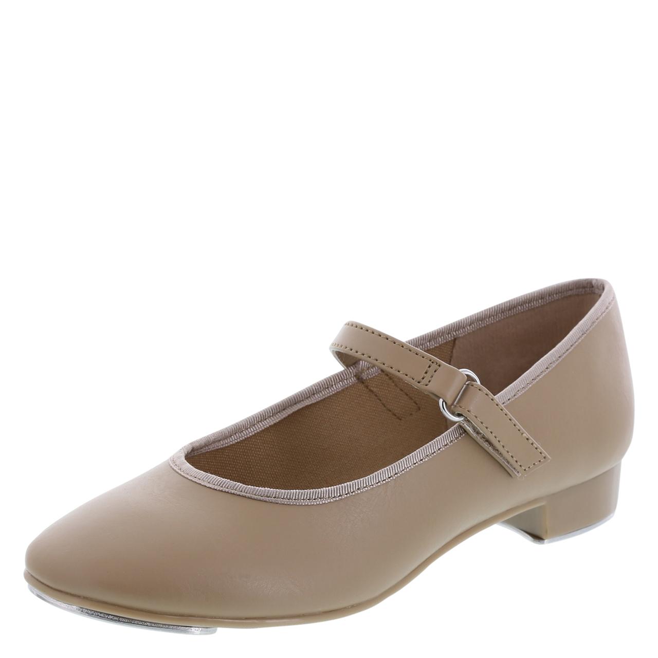 Bloch Ladies Tap On Tan Mary Jane w/ Buckle Tap Shoe