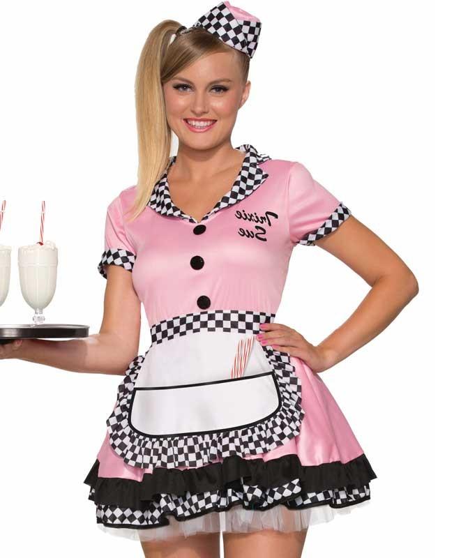 971b97e8541fa Trixie Sue 50's Diner Waitress Pink