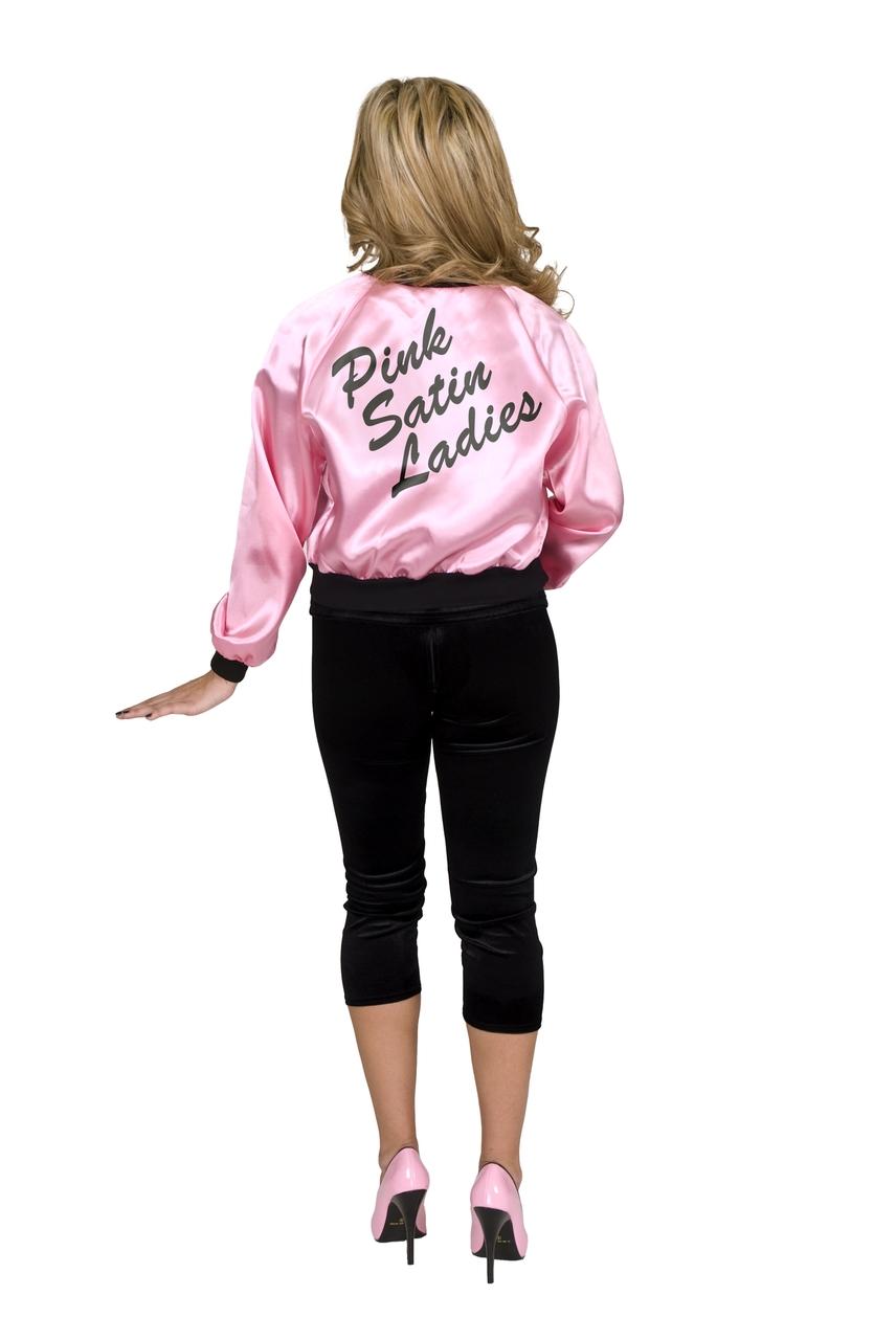 5d8a79aac4b 50's Satin Pink Ladies Jacket Plus Size