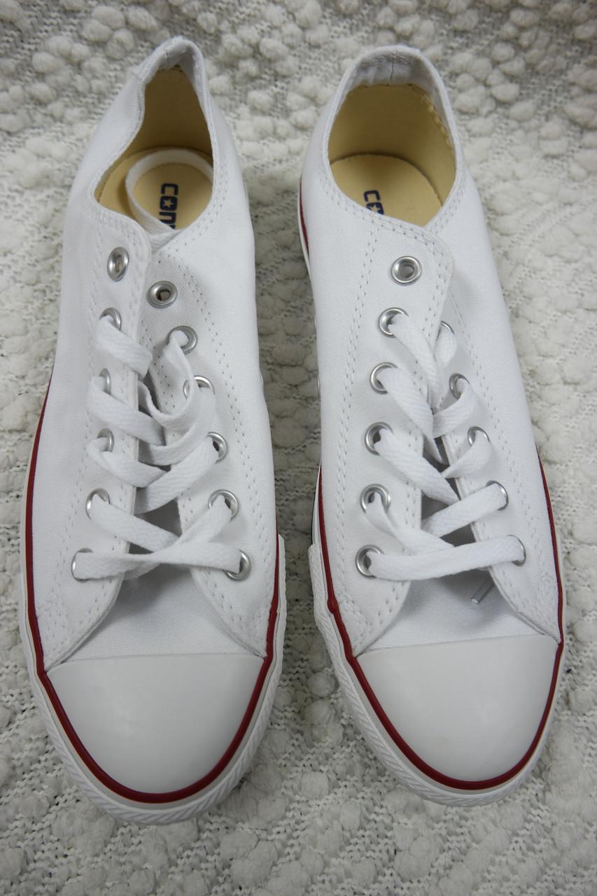najlepszy dostawca ceny detaliczne profesjonalna sprzedaż CONVERSE ALL STAR ox optic white canvas athletic sneakers mens 8/womens 10  BNIB