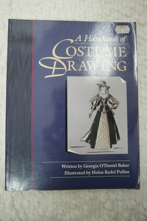 A HANDBOOK OF COSTUME DRAWING book front view